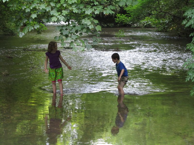 Playing in the river June 2011 083
